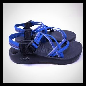 Chaco ZX1 Double Strap Sport Sandals Blue Size 8